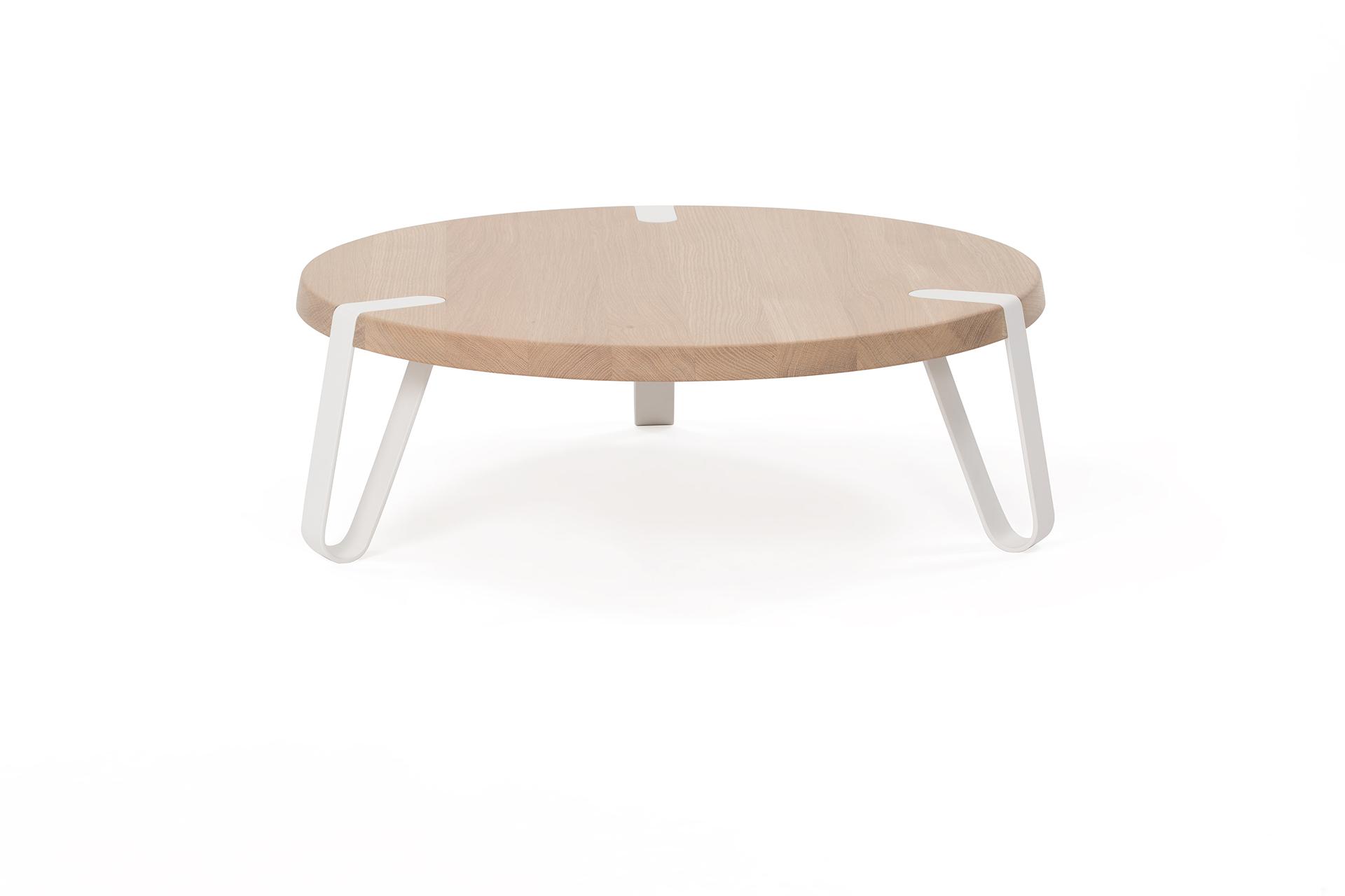 Level salontafel Ø 70 cm wit