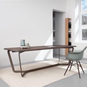 design eettafel werktafel bureau donker eiken Bas Vellekoop
